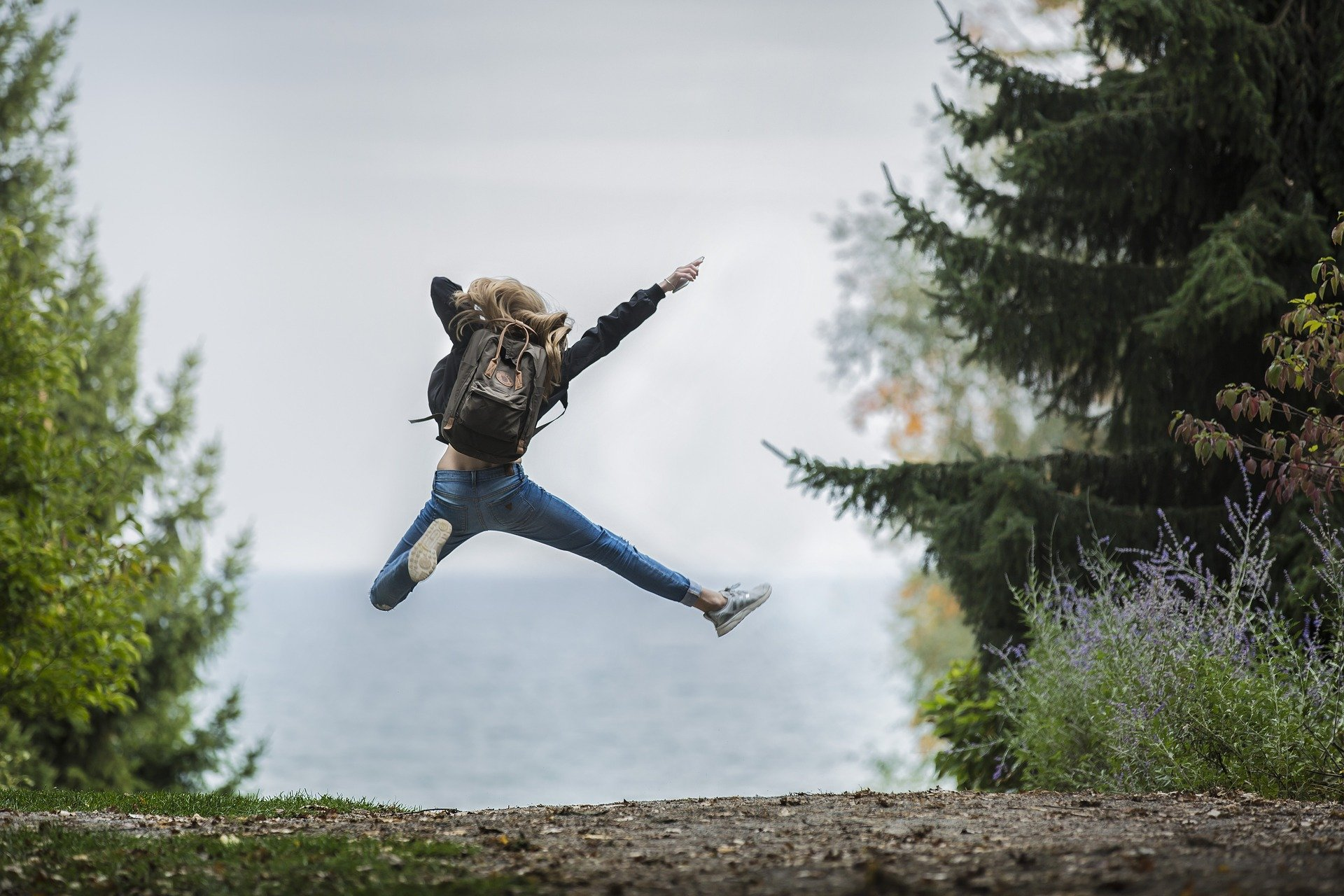 decorative, a person jumping